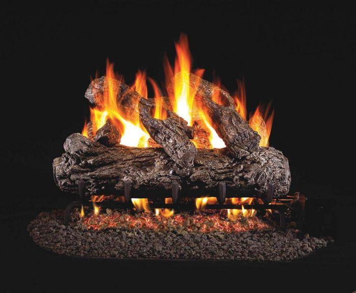Real Fyre HR Rustic Oak Vented Gas Log Set