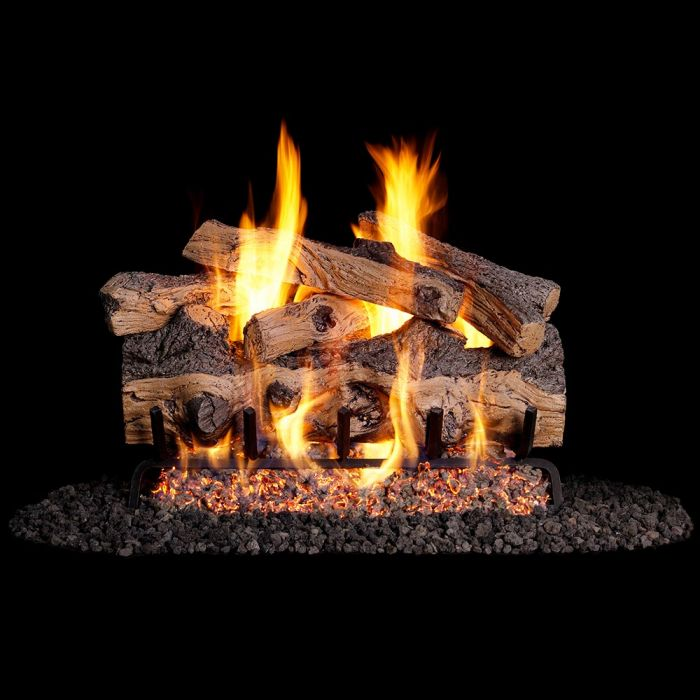 Real Fyre Gnarled Split Oak Gas Log Set