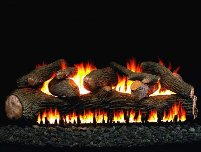 Real Fyre MP-2 Mammoth Pine Vented Gas Logs, See-Thru