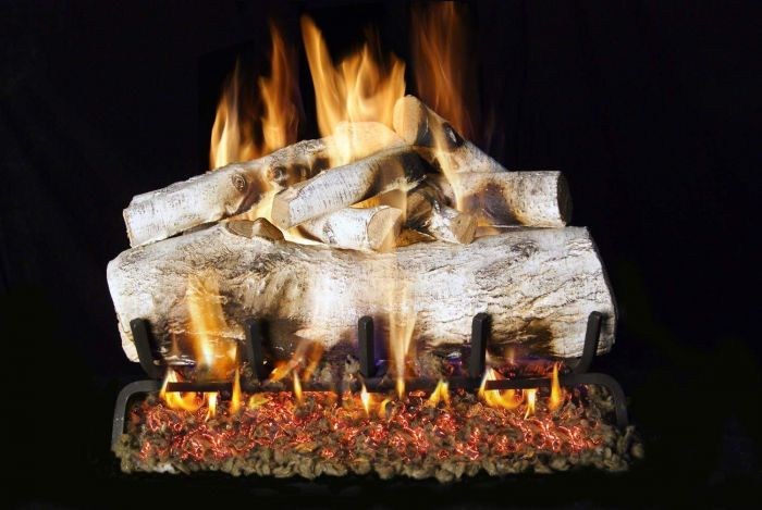 Real Fyre MBW Mountain Birch Vented Gas Logs, See-Thru