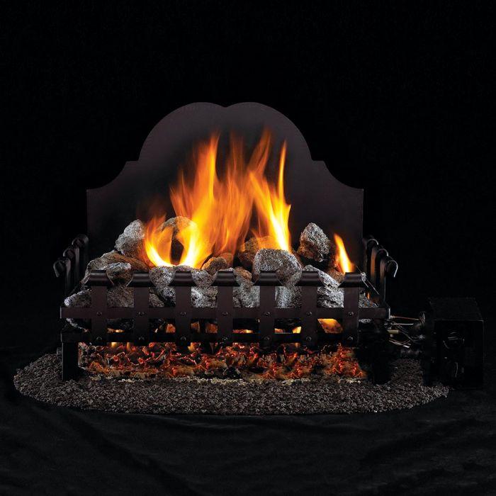 Real Fyre VG4 Old English Coal Grate Vented Gas Log Set