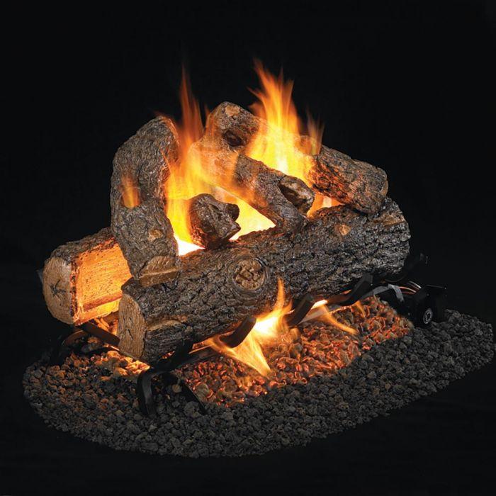 Real Fyre RDP Golden Oak Designer Plus Vented Gas Logs, See-Thru