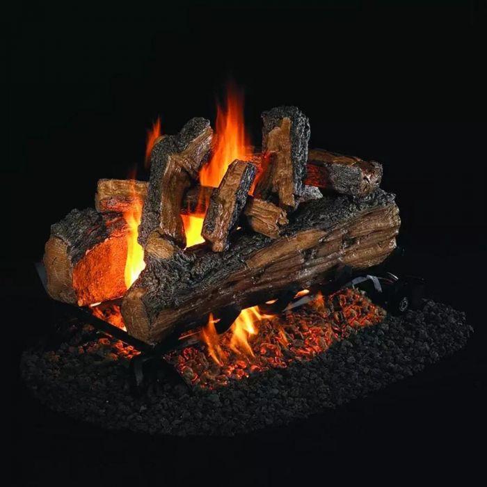 Real Fyre SDP Split Oak Designer Plus Vented Gas Logs, See-Thru