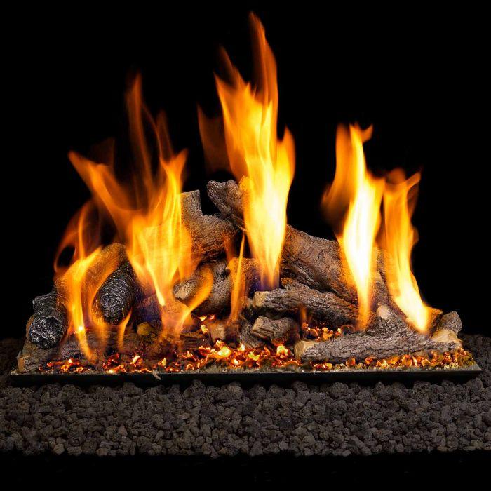 Real Fyre SDW Shoreline Designer Oak Vented Gas Log Set, ANSI Certified