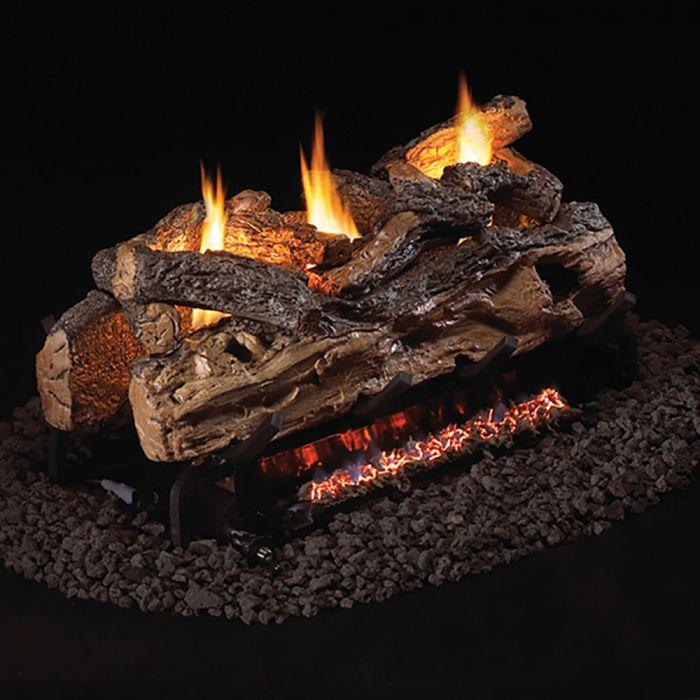 Real Fyre S9-2 Split OakVent Free Gas Log Set - For 2-Sided Fireplace