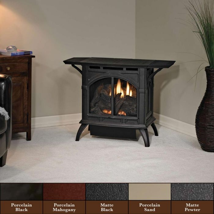 White Mountain Hearth VFD20CC Cast Iron Ventless Gas Stove with 20K Contour Burner, 21.5-Inches