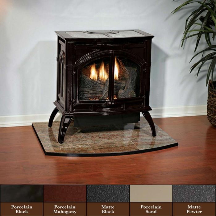 White Mountain Hearth VFD30CC Cast Iron Ventless Gas Stove with 25K Contour Burner, 28.25-Inches