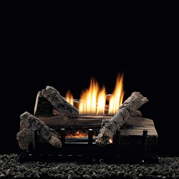 White Mountain Hearth VFDxxL Whiskey River Refractory Gas Log Set with Ventless Burner