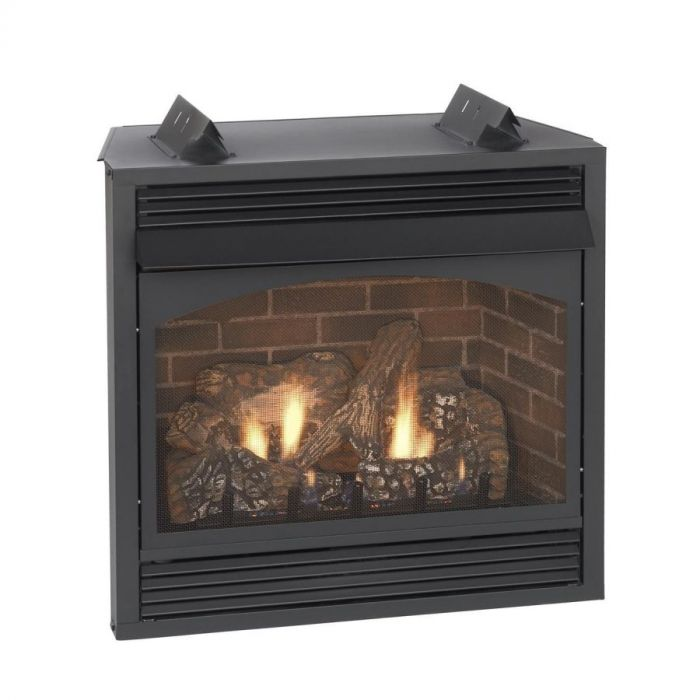 White Mountain Hearth VFP24FPxx Vail Ventless Fireplace with Slope Glaze Burner and Ceramic Fiber Log Set, 24-Inches