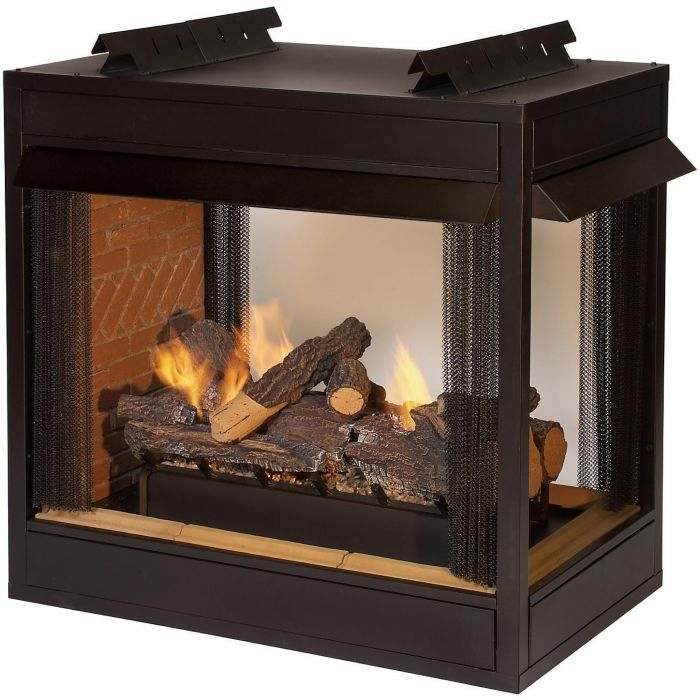 White Mountain Hearth VFP36xB2Ex Breckenridge Ventless Premium Multi-Sided Firebox, 36-Inches