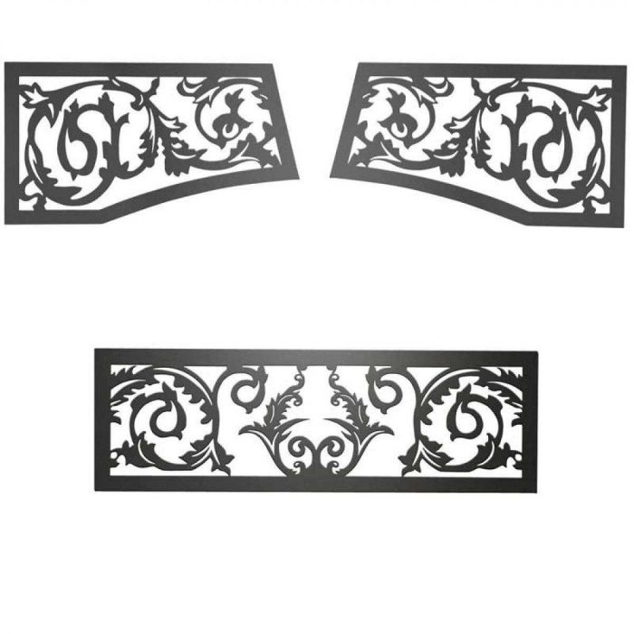 Napoleon VOIK Black Victorian Ornamental Insets for GD19 Fireplaces