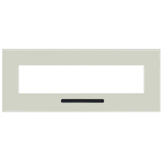 Amantii 10701204B-WM4423FLU White Glass Surround with Heat Vent and Back Lighting for WM-FM-34
