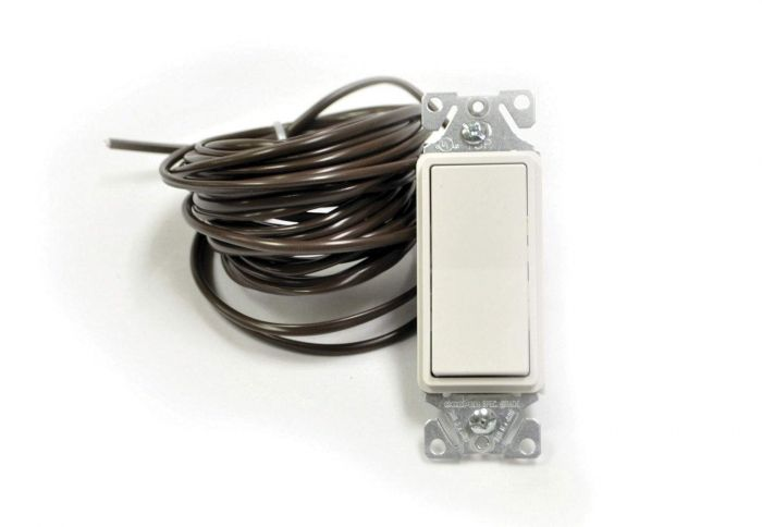 HPC Low Voltage Decorative White Rocker-Style On/Off Switch