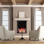 Amantii 2939-TRU-VIEW-XL Tru-View Series 3-Sided Electric Fireplace, 29-Inch