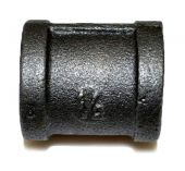 HPC Black Iron Coupler, 1/2-Inch to 1/2-Inch FPT