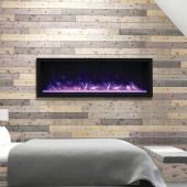 Remii 102765-XT Extra-Tall/Deep Indoor Built-In Electric Fireplace with Black Steel Surround, 65-Inch