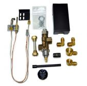 Copreci Side Inlet Safety Pilot Kit with 3-inch Swivel Quick Connect, Natural Gas