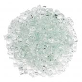 American Fireglass 10-Pound Classic Fire Glass, 1/2 Inch, Clear