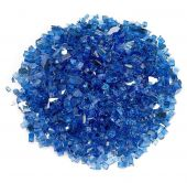 American Fireglass 10-Pound Premium Fire Glass, 1/4 Inch, Cobalt Blue Reflective