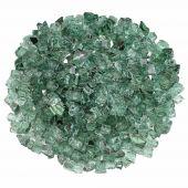 American Fireglass 10-Pound Premium Fire Glass, 1/2 Inch, Evergreen Reflective