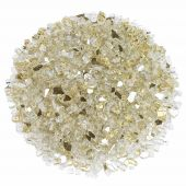 American Fireglass 10-Pound Premium Fire Glass, 1/4 Inch, Gold Reflective