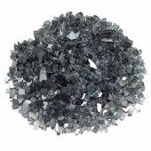 American Fireglass 10-Pound Premium Fire Glass, 1/4 Inch, Gray Reflective