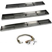 Hearth Products Controls FPS Linear Rectangle Match Light Gas Fire Pit Kit