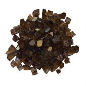 Amantii 1/4-Inch Light Brown Reflective Fire Glass, 5-Pounds