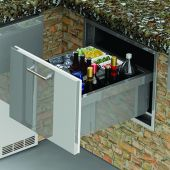 Alfresco AXE-ID Under Counter Ice Drawer and Insulating Beverage Center, 26-Inch