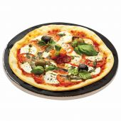 Porcelain Glazed Pizza Baking Stone, 16-Inch Diameter Lifestyle
