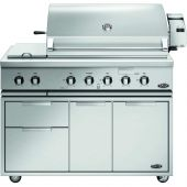 DCS Traditional 48-Inch Gas Grill On Cart with Rotisserie and Side Burner