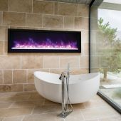Amantii BI-XTRASLIM Panorama Series Extra Slim Built-in Electric Fireplace with Surround