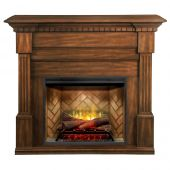 Dimplex GDS30RBF-1801BW Christina Buildrite Electric Fireplace Mantel Package, Burnished Walnut