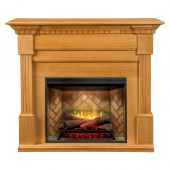 Dimplex GDS30RBF-1801RO Christina Buildrite Electric Fireplace Mantel Package, Rift Oak