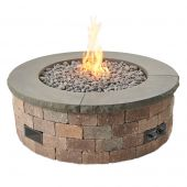 The Outdoor GreatRoom Company BRON52-K Do-It-Yourself Bronson Round Gas Fire Pit Kit, 51.25-Inch