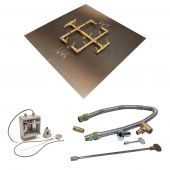 Crossfire by Warming Trends CFB-24VIK 24 Volt Electronic Spark Ignition Original Brass Gas Fire Pit Burner Kit