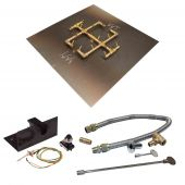 Warming Trends Crossfire Spark Ignition Original Brass Gas Fire Pit Burner Kits