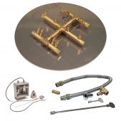 Crossfire by Warming Trends CFBCT-24VIK 24 Volt Electronic Spark Ignition Round Tree-Style Brass Gas Fire Pit Burner Kit