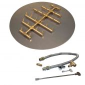 Crossfire by Warming Trends CFBCT-FLKV Match Light Round Tree-Style Brass Gas Fire Pit Burner Kit