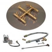 Crossfire by Warming Trends CFBCT-P24VIK 24 Volt Hot Surface Electronic Ignition Round Tree-Style Brass Gas Fire Pit Burner Kit