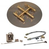 Crossfire by Warming Trends CFBCT-3VIK 3 Volt Electronic Spark Ignition Round Tree-Style Brass Gas Fire Pit Burner Kit