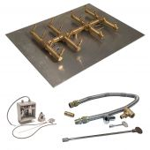Crossfire by Warming Trends CFBDT-24VIK 24 Volt Electronic Spark Ignition Double Tree-Style Brass Gas Fire Pit Burner Kit