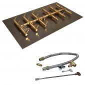 Crossfire by Warming Trends CFBDT-FLKV Match Light Double Tree-Style Brass Gas Fire Pit Burner Kit