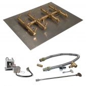 Crossfire by Warming Trends CFBDT-P24VIK 24 Volt Hot Surface Electronic Ignition Double Tree-Style Brass Gas Fire Pit Burner Kit