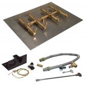 Crossfire by Warming Trends CFBDT-PBIK Push Button Spark Ignition Double Tree-Style Brass Gas Fire Pit Burner Kit
