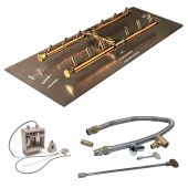 Crossfire by Warming Trends CFBH-24VIK 24 Volt Electronic Spark Ignition H-Style Brass Gas Fire Pit Burner Kit