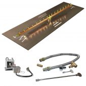 Crossfire by Warming Trends CFBL-P24VIK 24 Volt Hot Surface Electronic Ignition Linear Brass Gas Fire Pit Burner Kit
