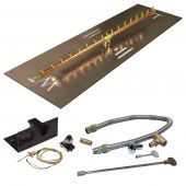Crossfire by Warming Trends CFBL-PBIK Push Button Spark Ignition Linear Brass Gas Fire Pit Burner Kit