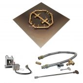 Crossfire by Warming Trends CFBO-P24VIK 24 Volt Hot Surface Electronic Ignition Octagonal Tree-Style Brass Gas Fire Pit Burner Kit