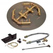 Crossfire by Warming Trends CFBO-PBIK Push Button Spark Ignition Octagonal Tree-Style Brass Gas Fire Pit Burner Kit